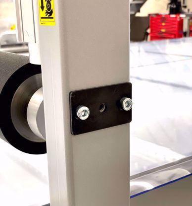 Roll holder plate, glide beam